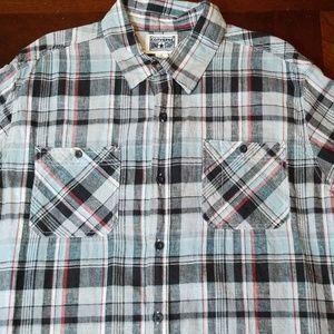 Converse One Star plaid button down shirt sz xl